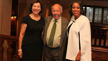 Celebrate!Evanston co-chairs Judy Kemp and Gene Servillo with Monique B. Jones, ECF CEO and President