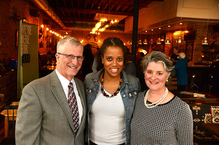 Police Chief Richard Eddington with ECF's Monique Jones and Jennifer Moran