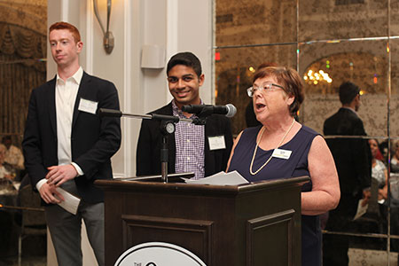 2019 NUDM Co-chairs Justin Savin and CJ Patel with Judy Witt, Responsive Grants Committee chair and ECF board member
