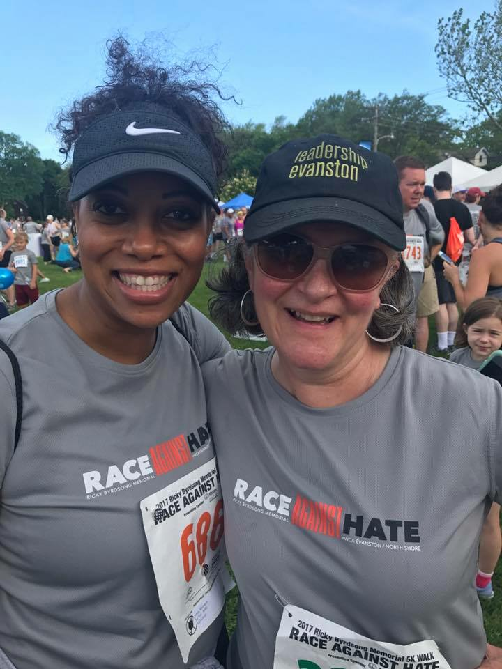 ECF president and CEO, Monique B. Jones, with Jennifer Moran, Leadership Evanston Director