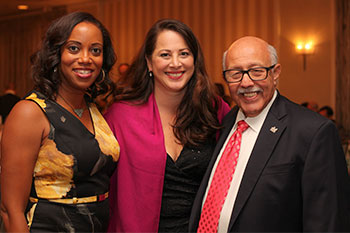 Monique B. Jones with event co-chairs Michele Berg and Gene Servillo. (photo by Jill Norton Photography)